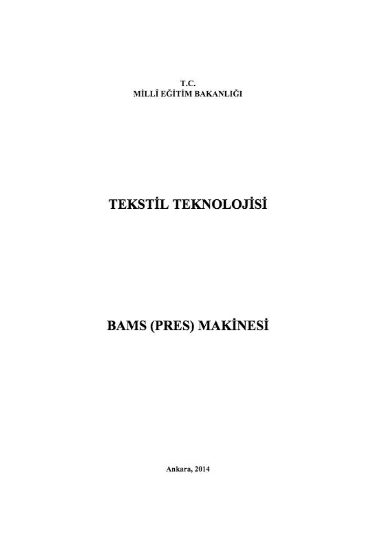 Bams (Pres) Makinesi