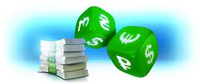 Ставки в рублях, долларах, евро, гривнах, фунтах