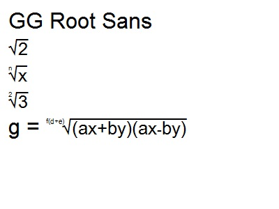 GG Root Sans N