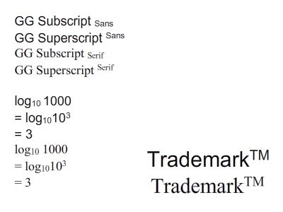 GG Subscript Serif