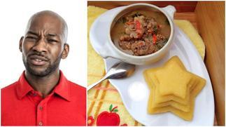 Social media users react to trending photo of '5 star' gari & soup
