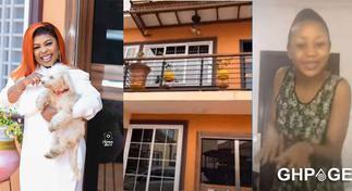 Afia Schwar flaunts new house to mock Akuapem Poloo