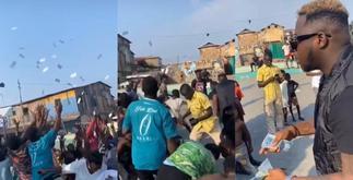 Medikdl Rains Bundles Of Cash On Fans During A Video Shoot » GhBasecom™