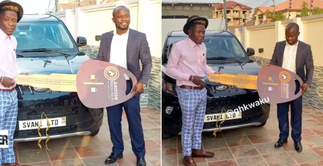 Shatta Wale Presents A Brand New Car To His Fan Who Was The Highest Texter During The Asaase Radio Sound Clash With Stonebwoy » GhBasecom™