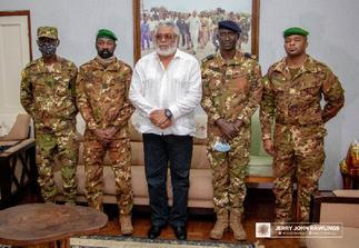 Rawlings meets Mali coup makers
