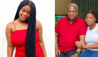 Mahama's Obolo Daughter Reveals How She Spends Her Day