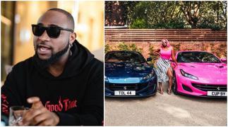 Davido: Singer Praises Femi Otedola for Buying Expensive cars for kids