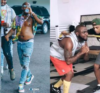 Woman Pass Man! Chioma Forces Lazy Davido Back to the Gym to Trim His Big Belly