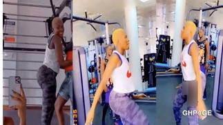Fella Makafui trolled on social media for hitting the gym to train with adult's diapers
