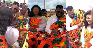 Obofour And Wife Ciara Enstooled as Chief And Queen An Tepa