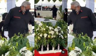 Rawlings Struggles With Tears As He Holds His Mother's Casket