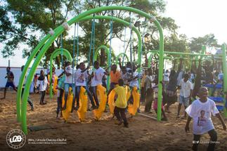 Ursula commissions refurbished children's park in Dansoman