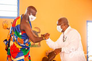 President of WR house of chiefs to Mahama