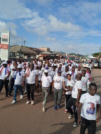 NPP Walks for Peace and Unity at Bibiani