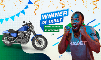 1xbet hot win promo winner presented with a new motorbike