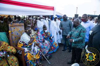 V/R: Pay attention to our roads now -Weta chiefs to Akufo-Addo