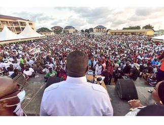 John Dumelo draws large crowd during campaign launch at Ayawaso West Wuogon