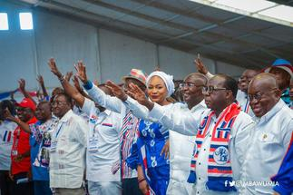 Old lady paints her teeth NPP; promises support for Akufo-Addo