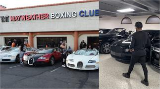 Mayweather Flaunts His Highly Expensive Car Collection Worth GHC150m