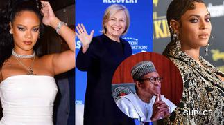 Beyonce, Rihanna, Hillary Clinton and other international stars react to brutalities in Nigeria