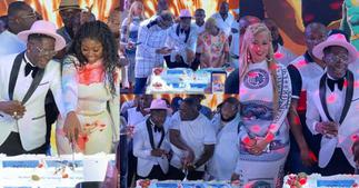 Photos and videos from Shatta Wale's all-white birthday party