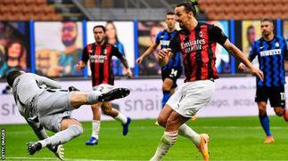 Ibrahimovic scores two as AC win Milan derby