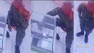 Soldier caught on CCTV camera stealing an iPhone pro max at a phone shop(Video)