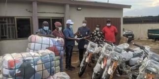 Nsiah-Asare donates motorbikes, others to Ahafo Ano North NPP