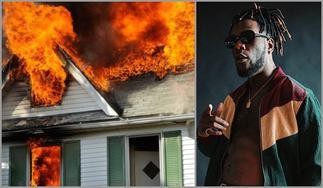 Thugs Set Burna Boy's Mansion On Fire In Nigeria