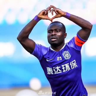 Frank Acheampong's sterling display saves Chinese team from Relegation