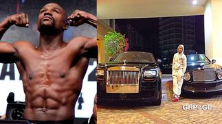 Floyd Mayweather shows his expensive fleet of Rolls Royce, Ferrari cars, others