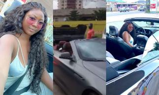 Video: Salma Mumin And 'Husband' Spotted Cruising In Town In Their Expensive Convertible Cars » GhBasecom™