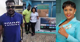 Nana Ama McBrown Donates to Koo Fori After his House got Burnt