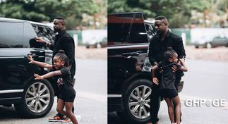Photos of Sarkodie and daughter Titi toy shopping