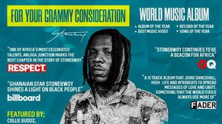 Stonebwoy's 2021 Grammys dream shattered as Recording Academy announces nominees [ARTICLE]