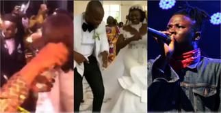 Rich Kids Spray Cash on YFM Star as Stonebwoy Performs at His Wedding