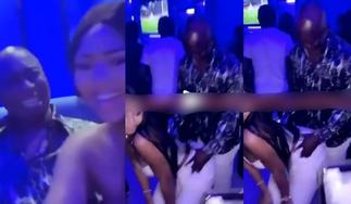 Watch Regina Daniels Vigorously Twerk On Her 64-Year-Old Husband In The Club