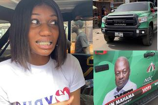 Wendy Shay explains why an NDC vehicle was spotted at her peace campaign