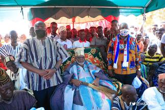 Dagbon will never forget Akufo-Addo and Bawumia for the peace we're enjoying