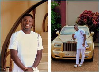 Asamoah Gyan Flexes With His Rolls Royce And Mansion On His 35th Birthday