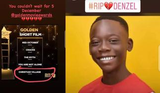 13-Year-Old Ghanaian Actor Dies After Being Nominated At The 2020 Golden Movie Awards