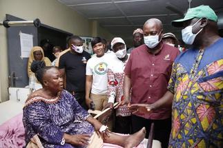 Mahama Visits Ejura NDC Accident Victims