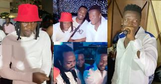 Asamoah Gyan Holds 35th Birthday Party With Stonebwoy, Others