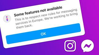 Facebook and Instagram disable features in Europe