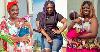Tracey Boakye: Photo of man Chilling with the actress' daughter Drops