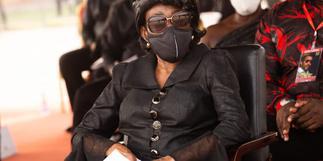 Nana Konadu Agyeman-Rawlings bids farewell to late husband Rawlings