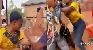 Video of Nigerian lady beating her friend for informing her boyfriend that she was cheating