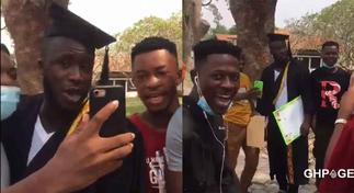 Kumawood actor Ras Nene spotted on Laygan(Legon) campus in new video