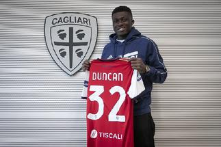 Newly-signed Cagliari midfielder Alfred Duncan handed debut start against AC Milan