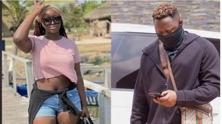 Medikal's younger sister causes stir on social media after dropping hot beach photo [ARTICLE]